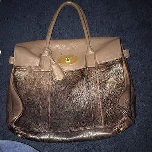 Two Toned Brown Mulberry Bag